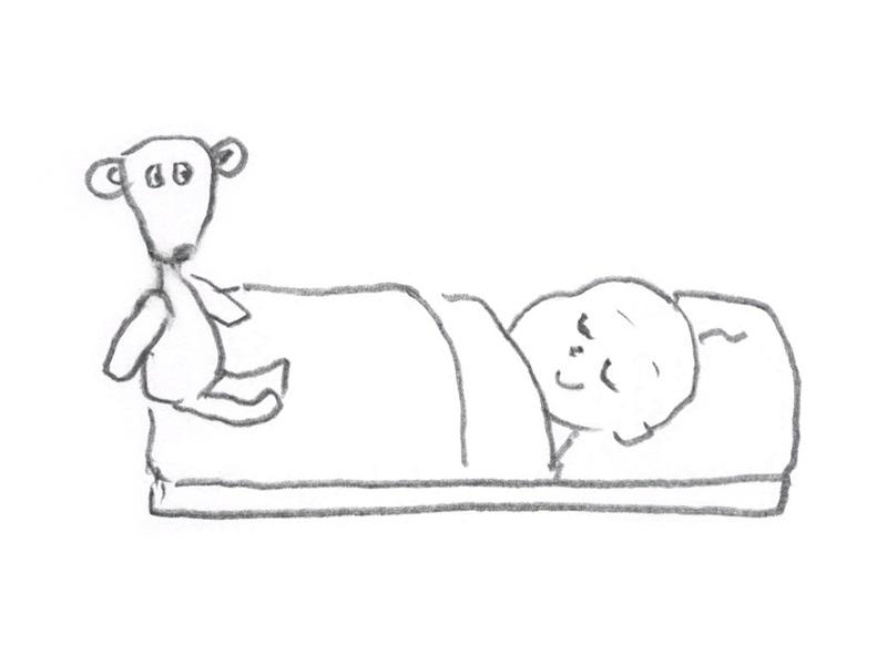 Deze baby is blij omdat hij door slaapvorming lekker in slaap valt en ook overdag rustig slaapt. Happy By Sleep!
