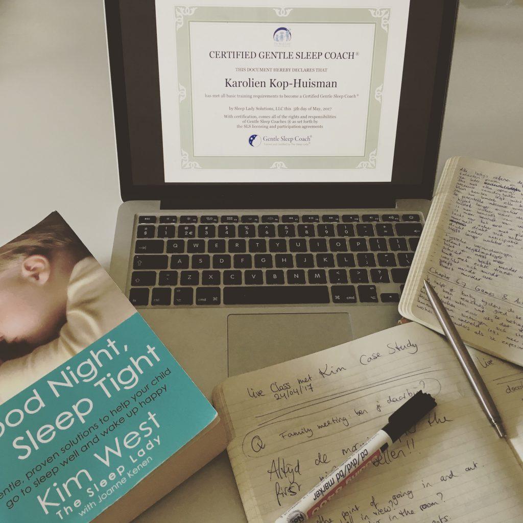 Opleiding Gentle Sleep Coach - Kim West - The Sleeplady - studeren